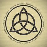 Triquetra symbol Arkivfoton