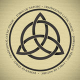 Triquetra symbol. Black Triquetra symbol on vintage paper Stock Photos