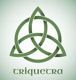Triquetra symbol with gradients. Green Triquetra symbol with gradients Royalty Free Stock Photography