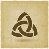 Triquetra symbol old background. Illustration Stock Photography