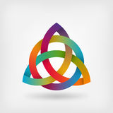 Triquetra symbol in rainbow colors Royalty Free Stock Images