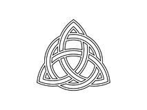 Triquetra. Trinity knot. Celtic symbol of eternity. Vector. Illustration Royalty Free Stock Images