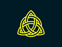 Triquetra. Trinity knot. Celtic symbol of eternity. Vector. Illustration Stock Photo
