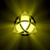 Triquetra Trinity knot with light flare Royalty Free Stock Photos
