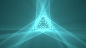 Triquetra Trinity knot playing light flare stock video
