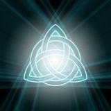 Triquetra Trinity Knot With Light Flare Stock Photos