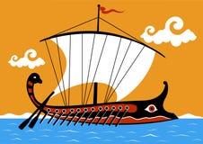 Trireme del greco antico royalty illustrazione gratis