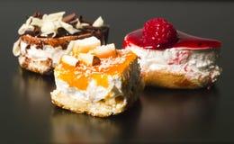 Tris of creative dessert Royalty Free Stock Image