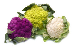 Tris of Fresh cauliflower Stock Photography