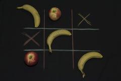 Tris-Spiel mit Frucht Lizenzfreie Stockfotos