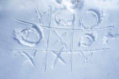Tris sulla neve Fotografie Stock Libere da Diritti