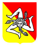 Triscele, symbool van Sicilië Royalty-vrije Stock Fotografie