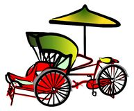 Trishaw royalty illustrazione gratis