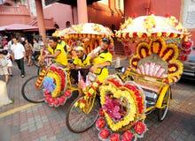 Trishaw or  Becas Stock Image