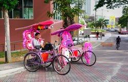 Trishaw décoratif chez le Malacca Images libres de droits