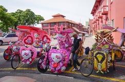 Trishaw décoratif chez le Malacca Image libre de droits