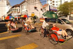 Trishaw di Penang immagine stock libera da diritti