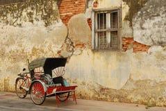 Trishaw entlang Penang-Straße Lizenzfreie Stockbilder