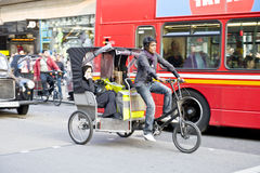 Trishaw in the Lonon street Stock Photos