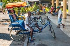 Trishaw in Madagascar Royalty Free Stock Photography