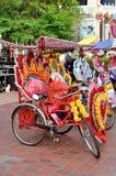 Trishaw na rua de Melaka Imagem de Stock Royalty Free