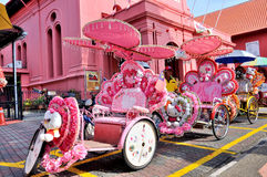 Trishaw na rua de Melaka Fotografia de Stock