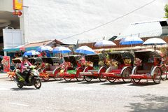 Trishaw in Penang, Malaysia. Royalty Free Stock Image
