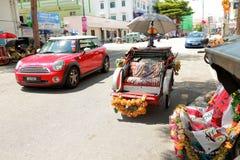 Trishaw in Penang, Malaysia. Royalty Free Stock Photo