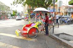 Trishaw in Penang, Malaysia. Royalty Free Stock Photos