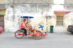 Trishaw in Penang, Malaysia. Stock Photo