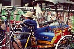 The Trishaw Rider Royalty Free Stock Photos