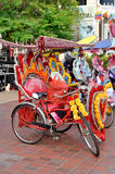 Trishaw in the Street of Melaka Royalty Free Stock Image