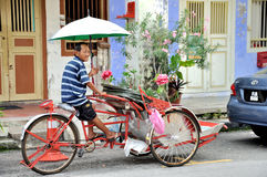 Trishaw in the Street of Penang Royalty Free Stock Images