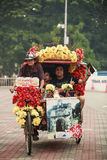 Trishaw turnerar Royaltyfri Fotografi