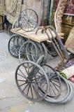 Trishaw wheels in Delhi bazaar, India Stock Photos