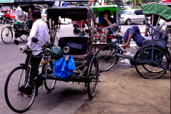 Trishaws Stock Images