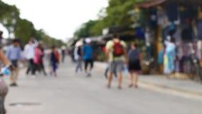 Trishaws en Asia - una manera popular de movimiento en los turistas ricos metrajes