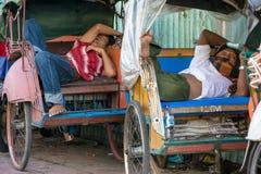 Trishaws resting in wheelchair Royalty Free Stock Photo