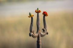 Trishul: Sinal hindu Imagem de Stock Royalty Free