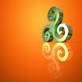 Triskel - 3D ilustracja Fotografia Royalty Free