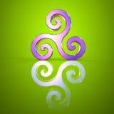 Triskel - 3D ilustracja Obraz Royalty Free