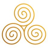 Triskele celta ilustração royalty free