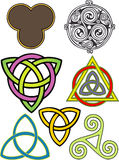 Triskeleons. Assortment of three fold symbols, including spiritual and religious emblems Royalty Free Stock Image
