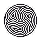 Triskelion symbol tattoo. Geometric circular ornament Royalty Free Stock Photos