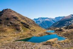 Tristaina sjöar i Andorra arkivfoto