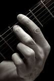 The Tristan chord on electric guitar (lower four strings) Royalty Free Stock Images