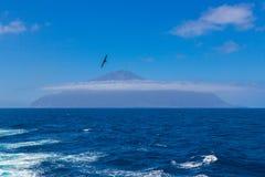 Tristan da Cunha daleka wyspa, Południowy Atlantycki ocean zdjęcie royalty free
