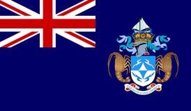 Tristan da Cunha Flag royalty free stock image
