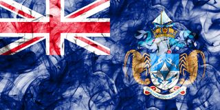 Tristan da Cunha smoke flag, British Overseas Territories, Brita. In dependent territory flag Stock Photography