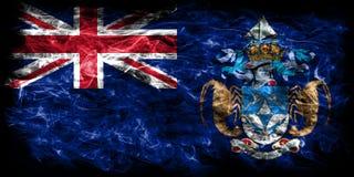 Tristan da Cunha smoke flag, British Overseas Territories, Brita. In dependent territory flag Stock Images